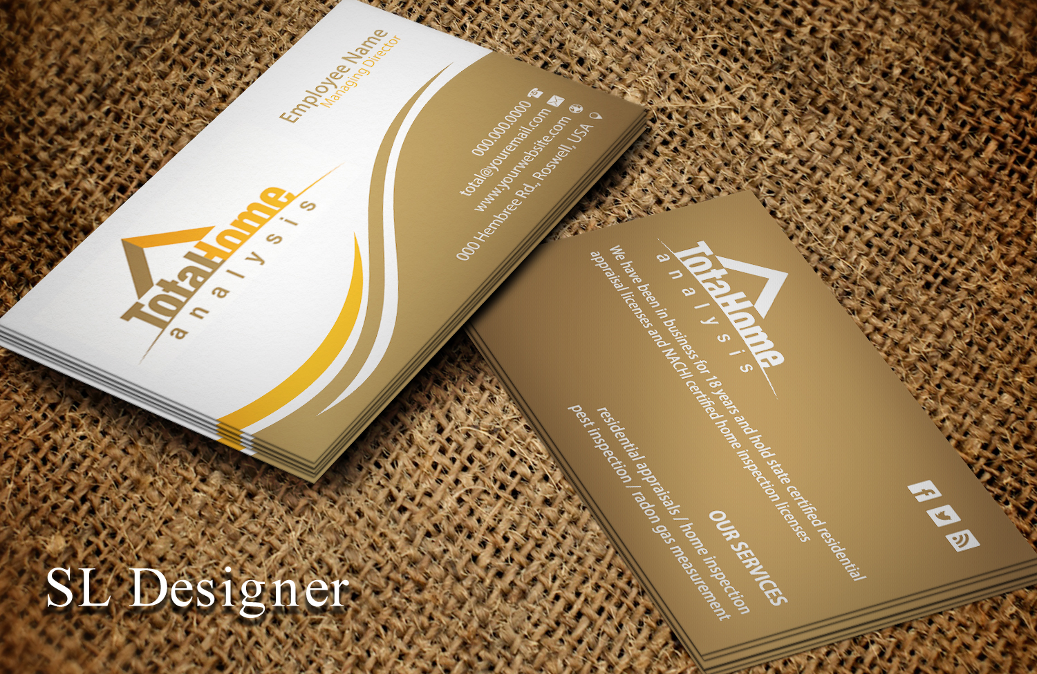 Business business card design for total home analysis by sl designer business business card design for total home analysis in united states design 7880650 colourmoves