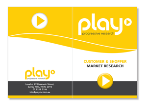 Modern, Upmarket, It Company Brochure Design for PLAY MR by