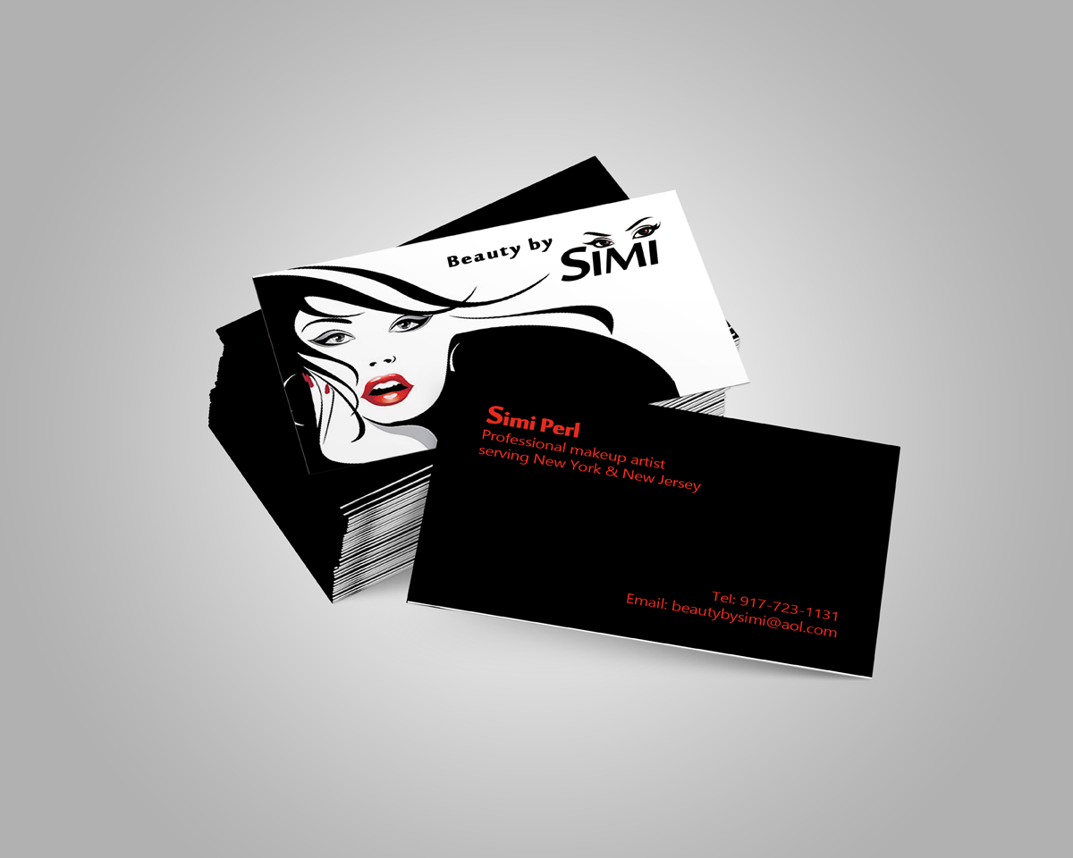 Business Business Card Design for Beauty by Simi by Zohair Khan ...