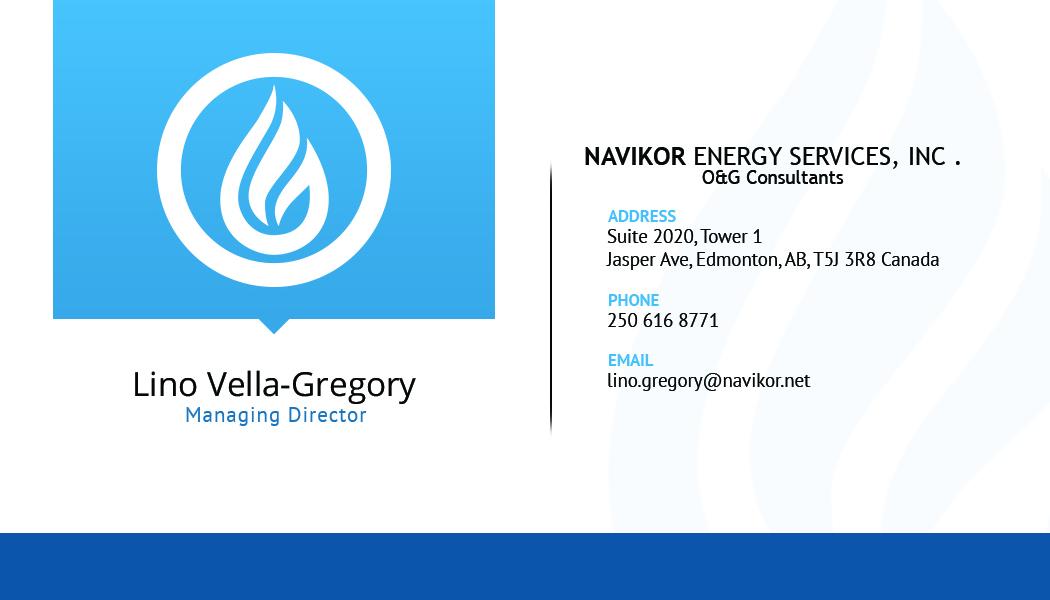 Design De Carte Visite Par SliStudios Pour Navikor Energy Services