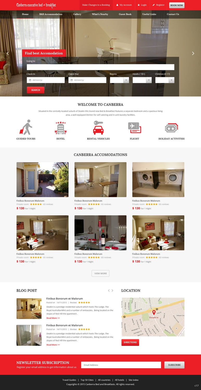 Elegante Serio Web Design For Canberra Short Term