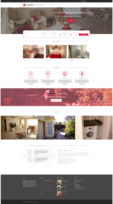 L Gant S Rieux Accommodation Web Design For Canberra