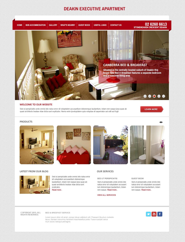 Elegant Serious Web Design For Canberra Short Term
