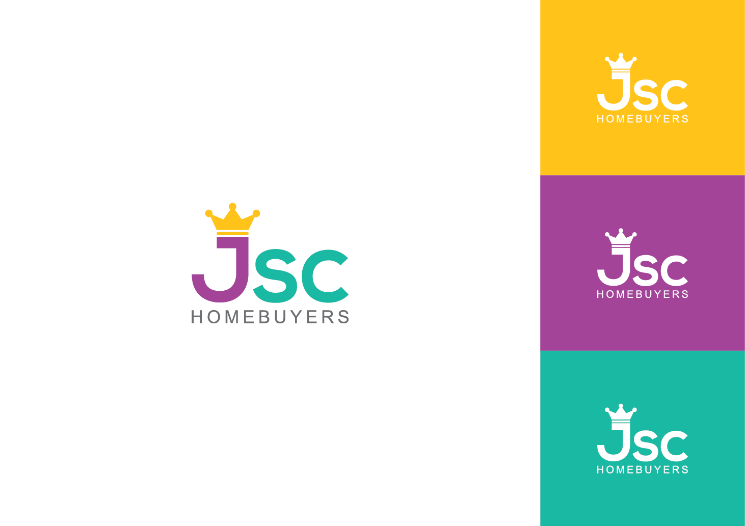 Real Art Design Group : Personable colorful real estate logo design for jsc