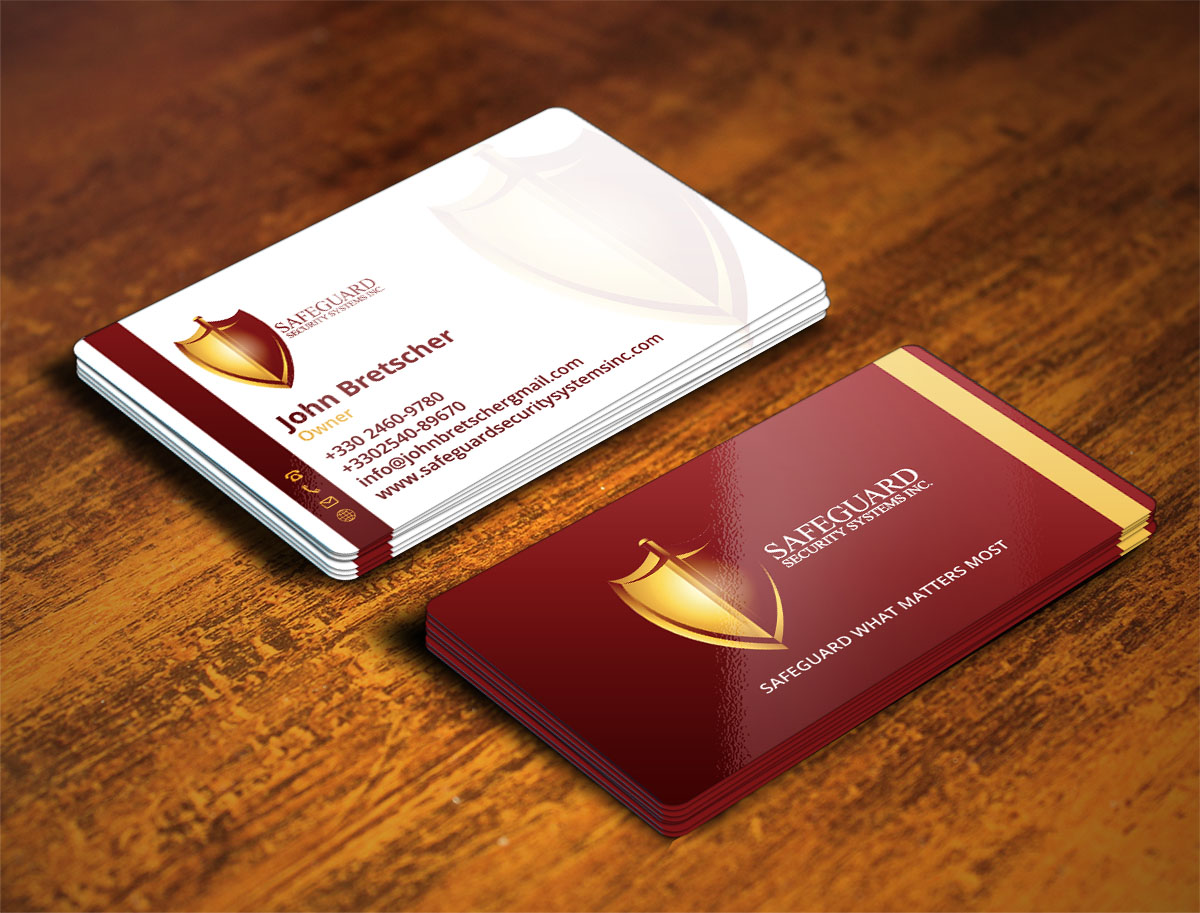 204 Professional Business Card Designs | Security Business Card ...