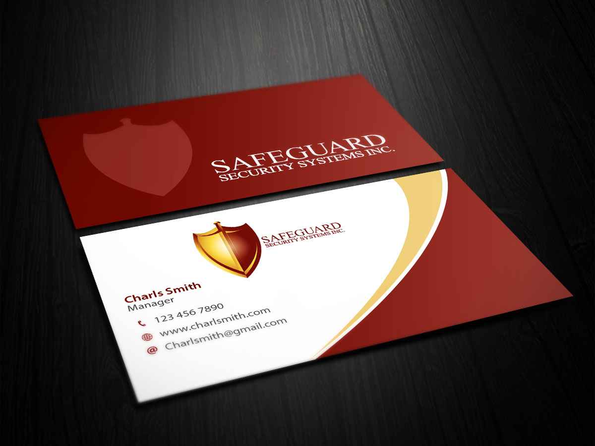 Professional, Bold, Security Business Card Design for a Company by ...