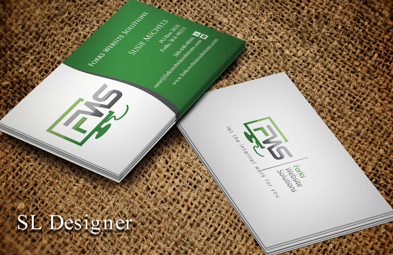 Modern, Colorful Business Card Design for Susan Michels by SL ...