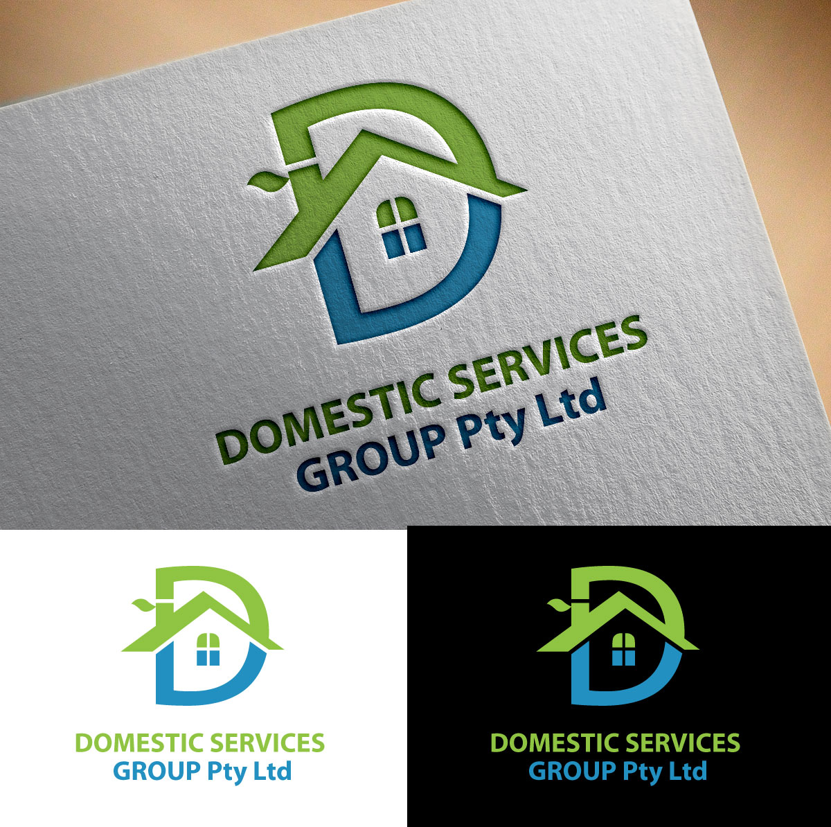 Colorful modern logo design for domestic services group for Outer space design group pty ltd