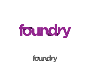 "Logo Design job – Interesting typography sought for edgy and upmarket logo for digital company called ""Foundry"" – Winning design by Slimjim"