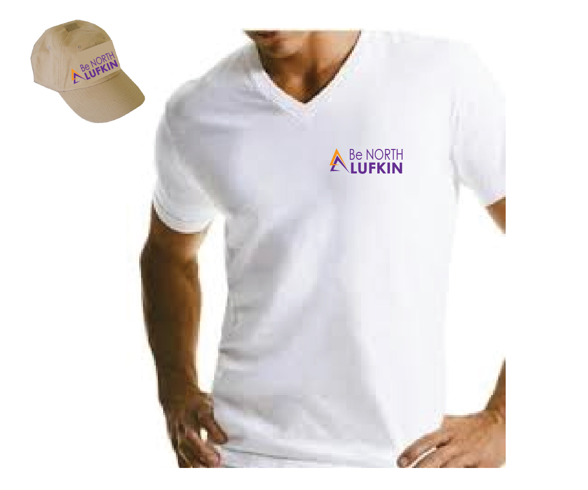 Bold modern non profit logo design for be north lufkin for T shirt printing in lufkin tx