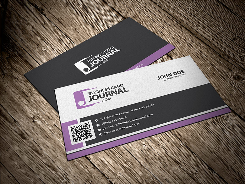 Business Card With Qr Code Psd Gallery Card Design And Card Template - Business card with qr code template