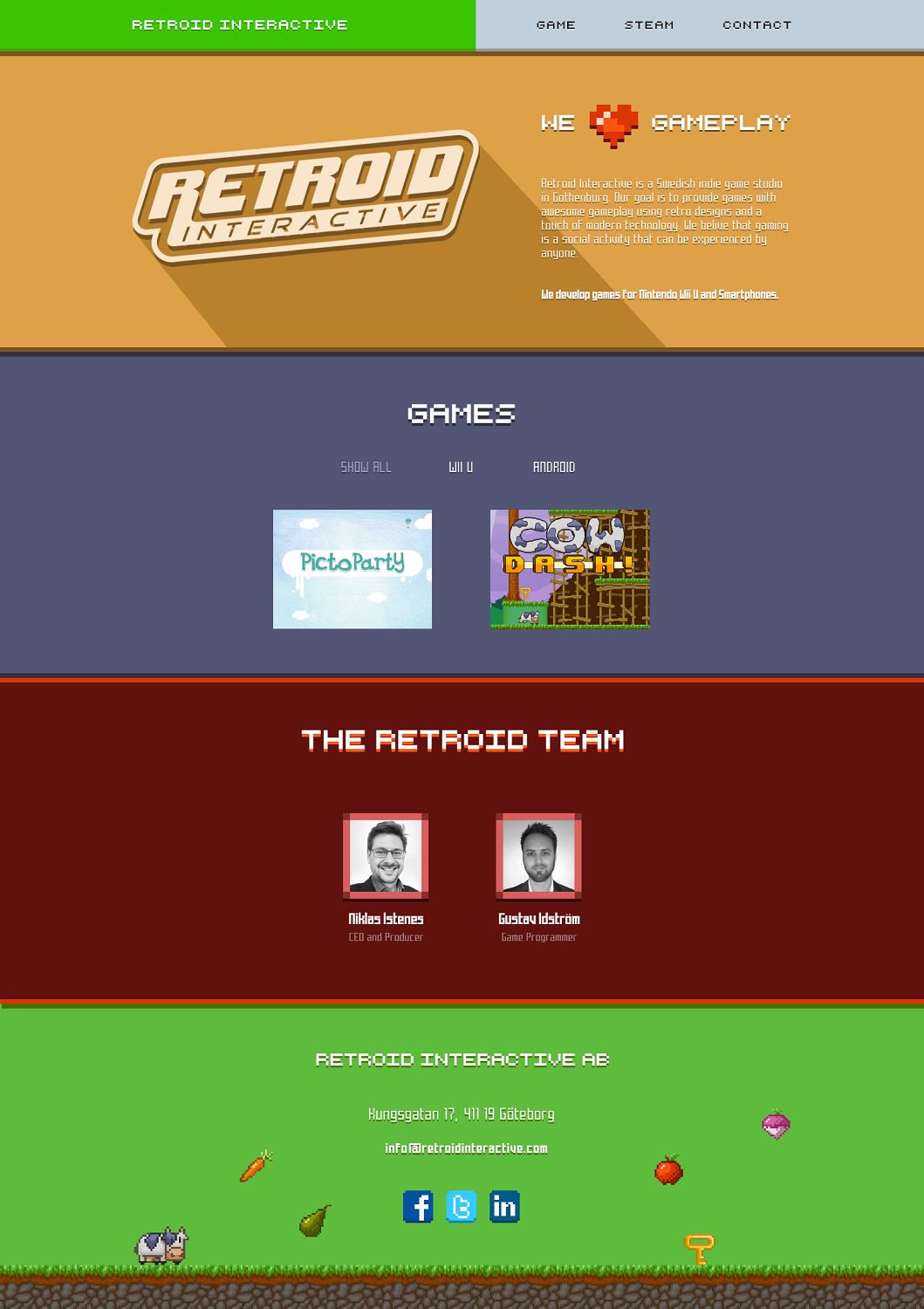 Modern, Colorful, Games Web Design for a Company by dii