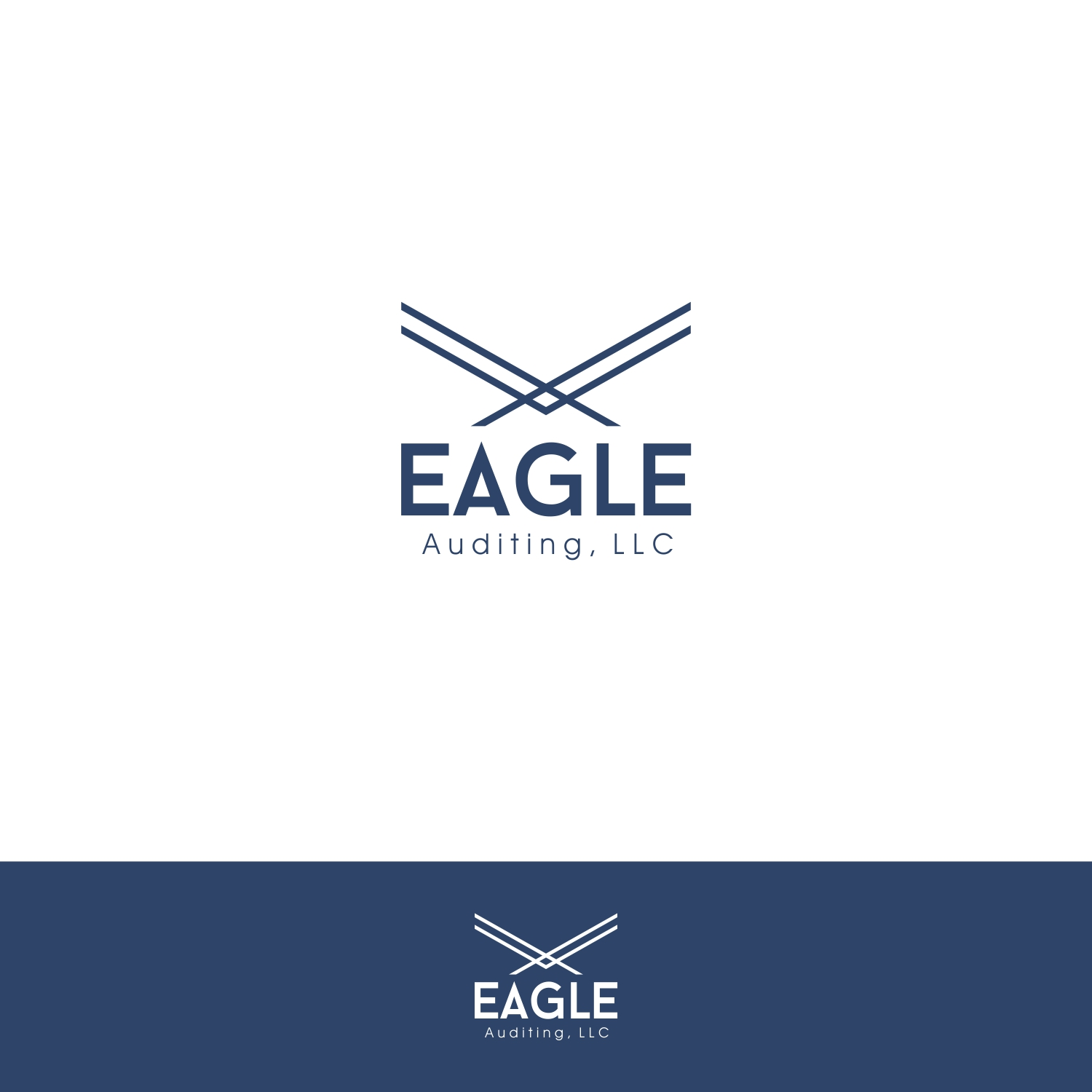 serious modern auditing logo design for eagle auditing