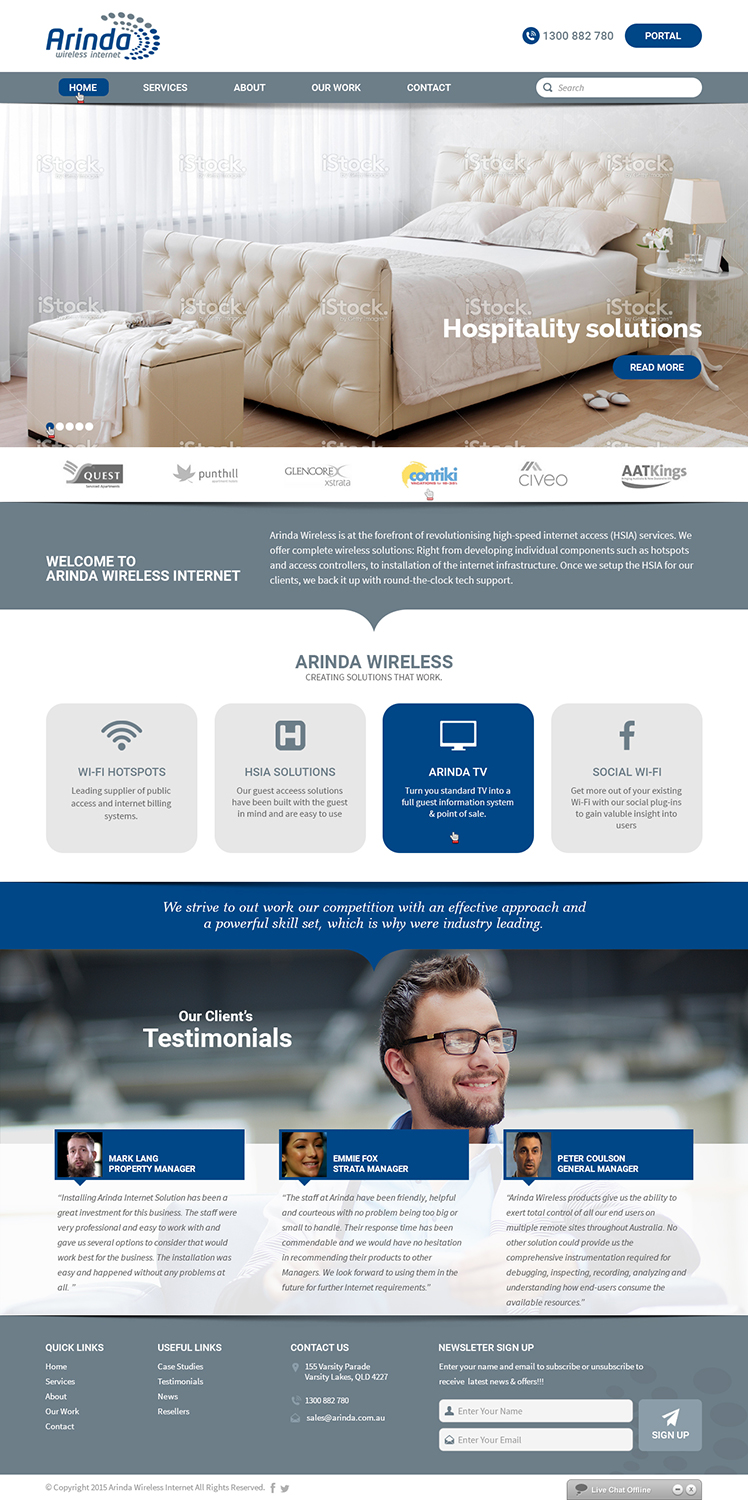 Wordpress template re-design of current website | 123 Web