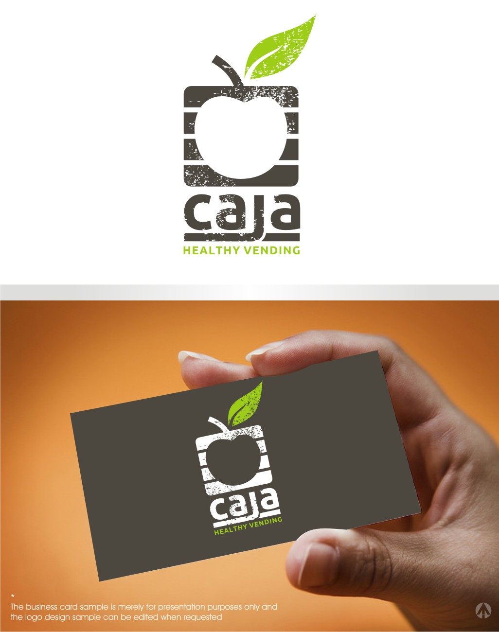 Upmarket, Serious Logo Design for Caja Healthy Vending by MBARO ...