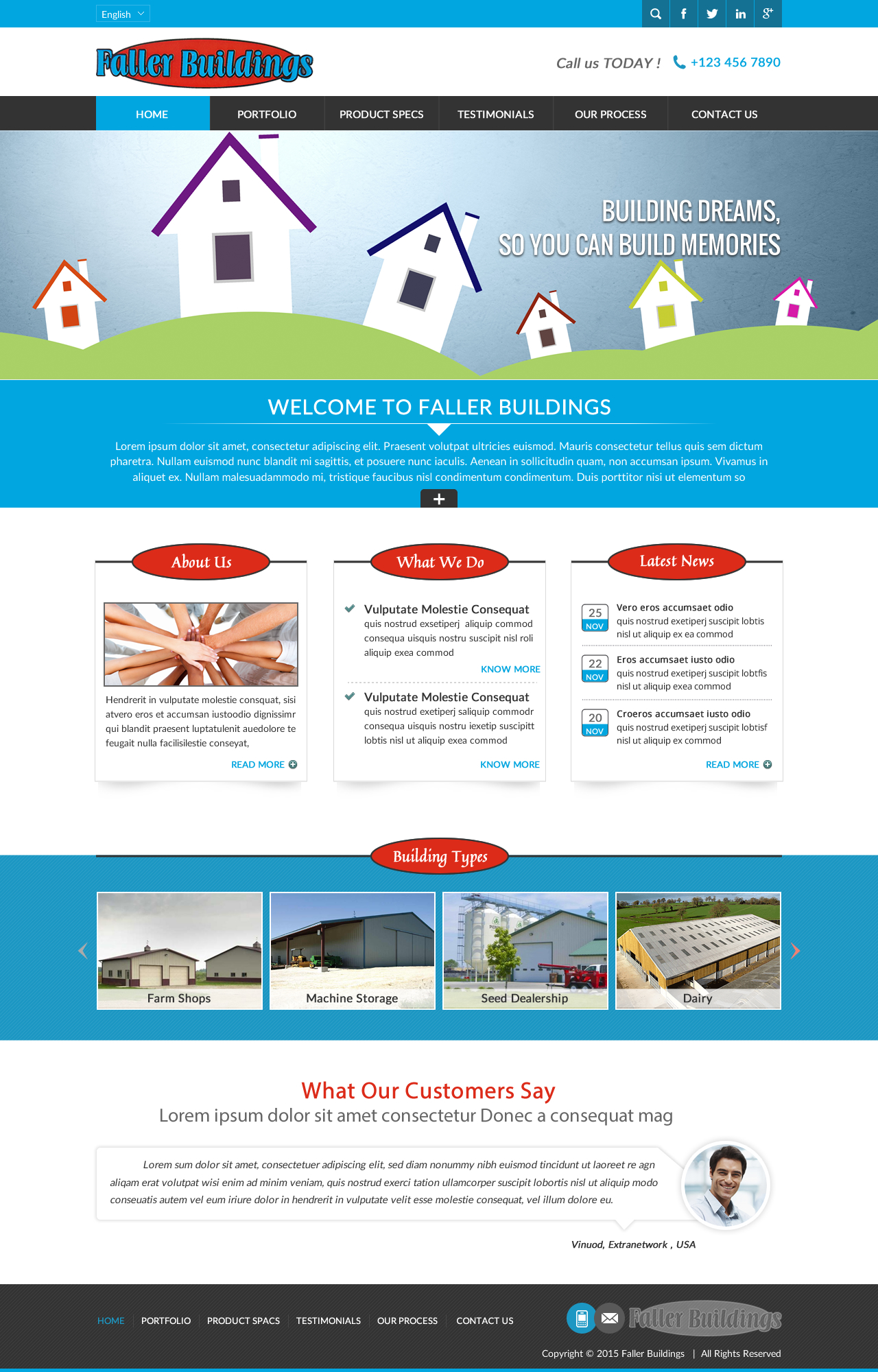 Masculine serious construction company web design for for Masculine web design