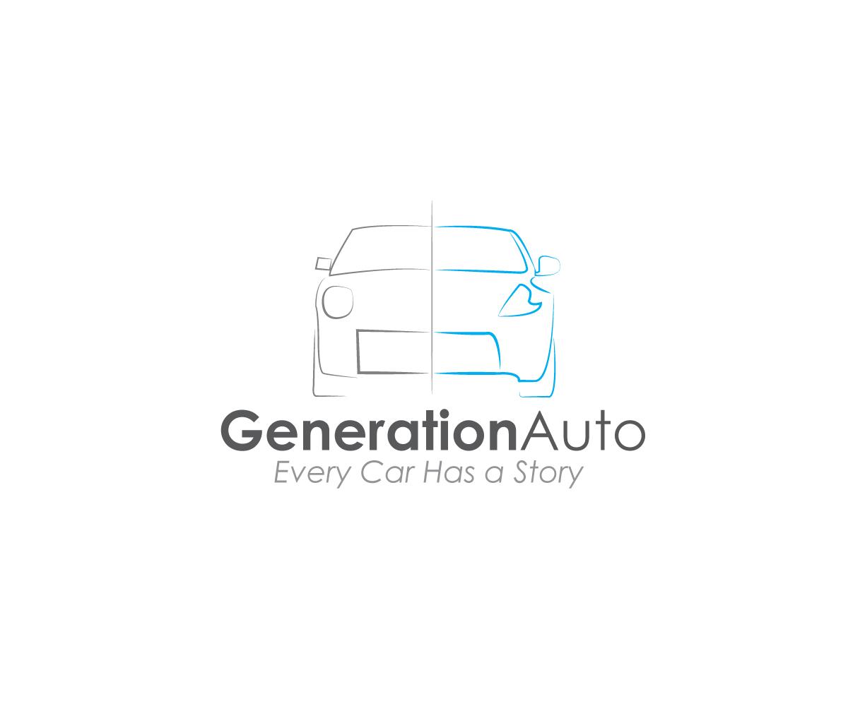 Masculine Serious Automotive Logo Design For Generation Auto Tag