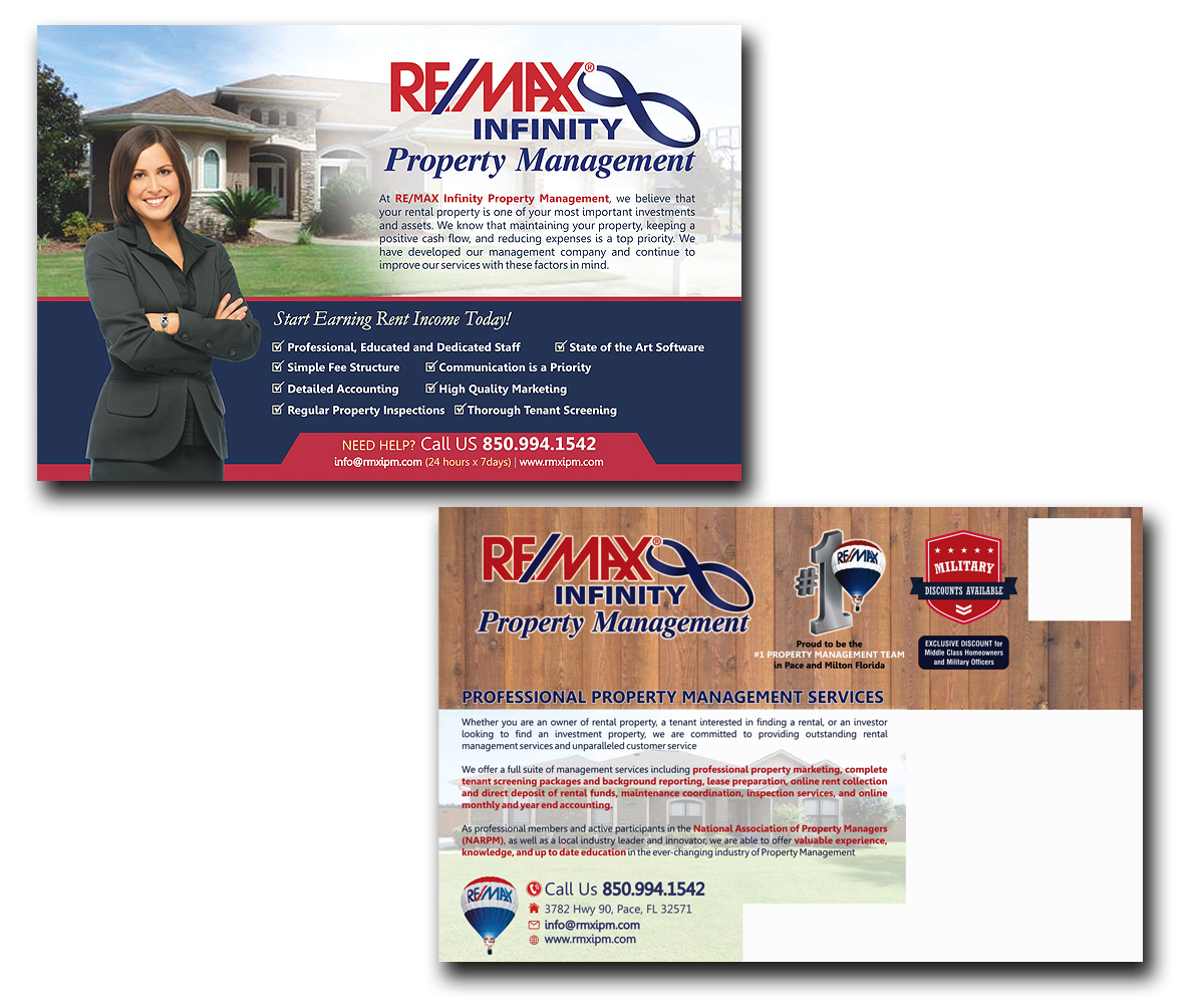 Modern Professional Postcard Design For Re Max Infinity