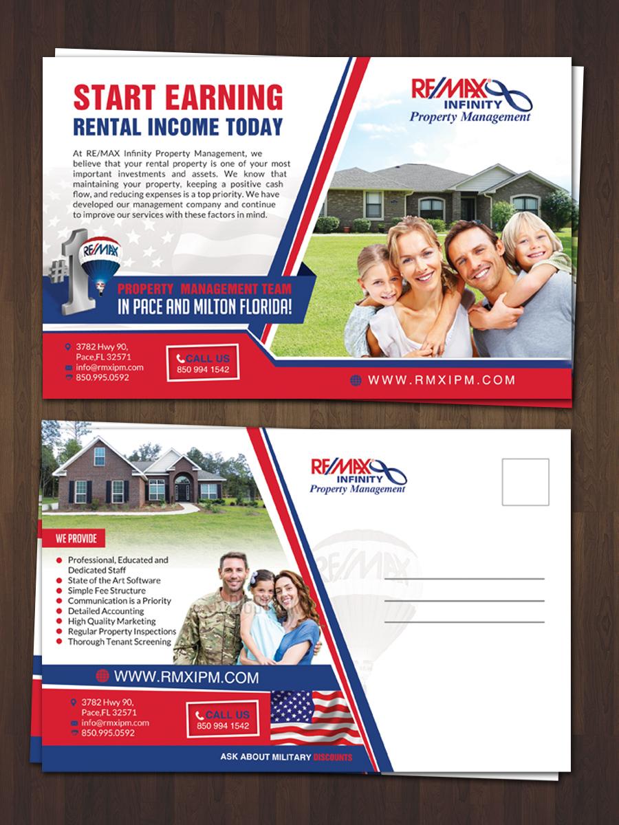 48 modern professional property management postcard