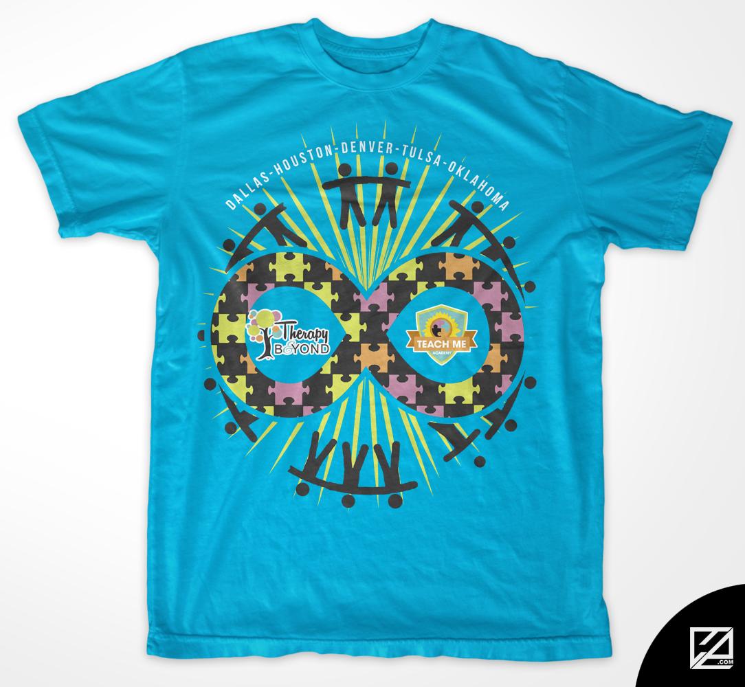 Playful Modern T Shirt Design By