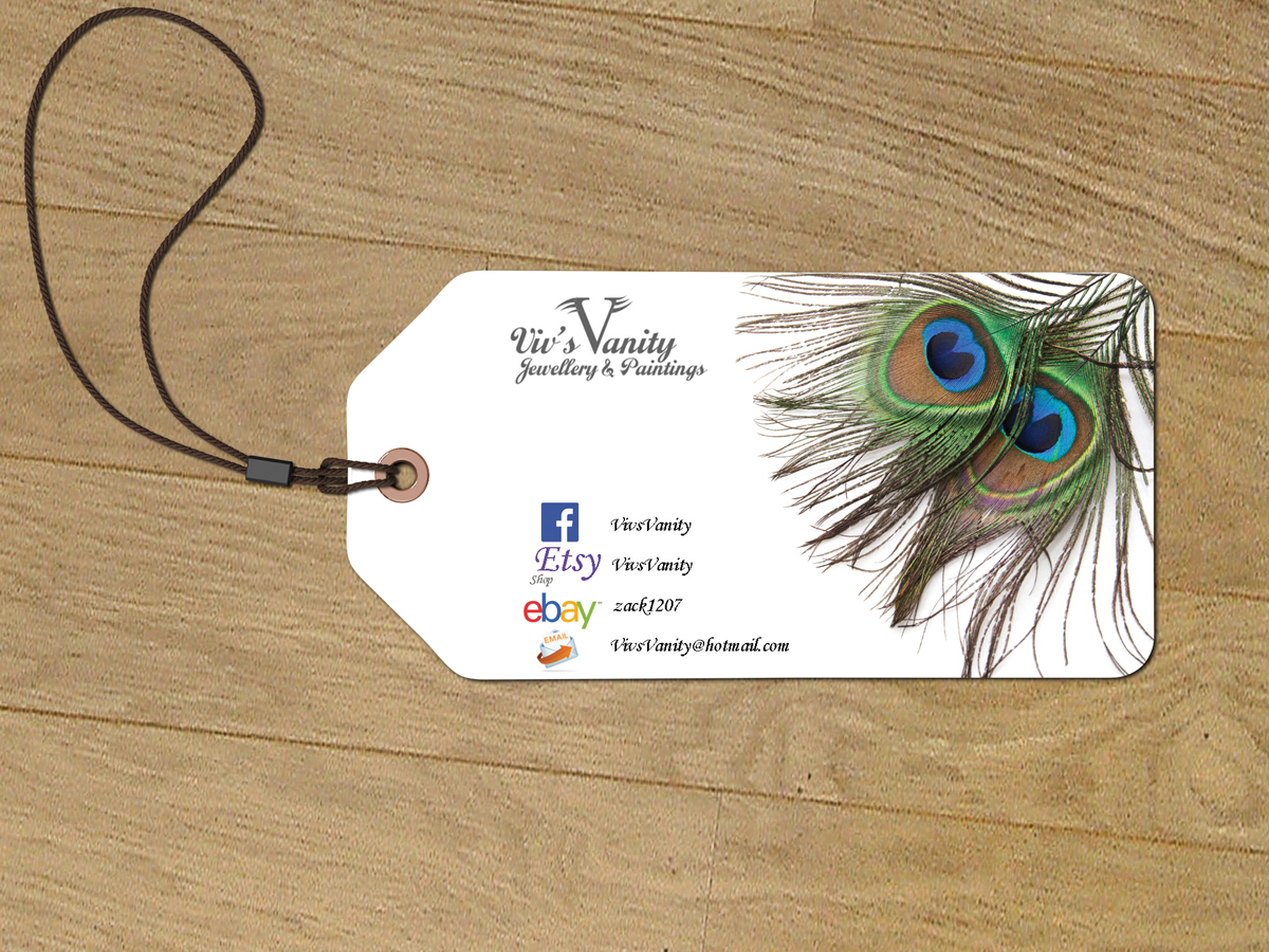 Business Card Design By Drom For Vivs Vanity Jewellery Paintings