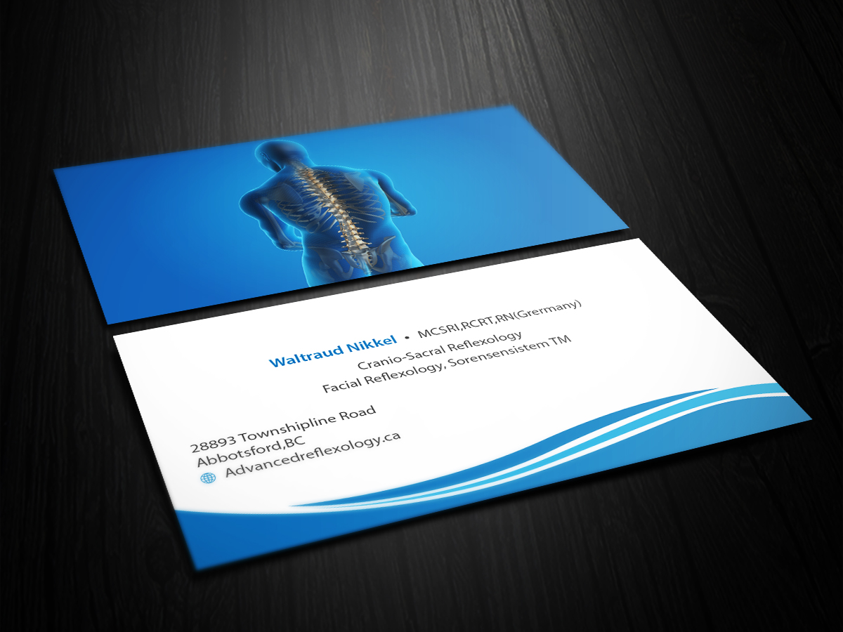 Bold, Professional Business Card Design for Advanced Reflexology by ...