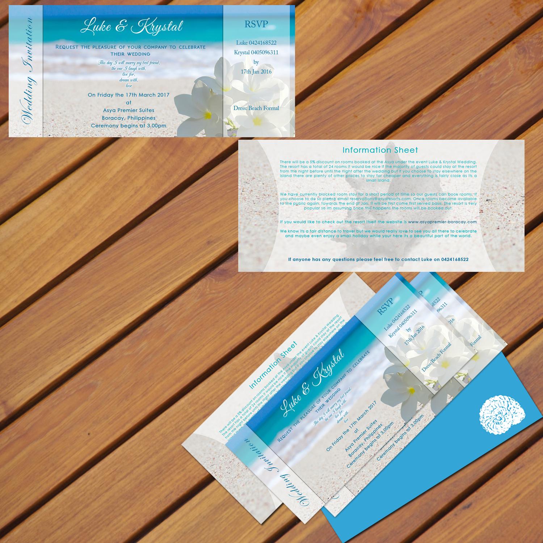 Colorful playful wedding invitation design for a company by colorful playful wedding invitation design for a company in australia design 8011900 stopboris Images