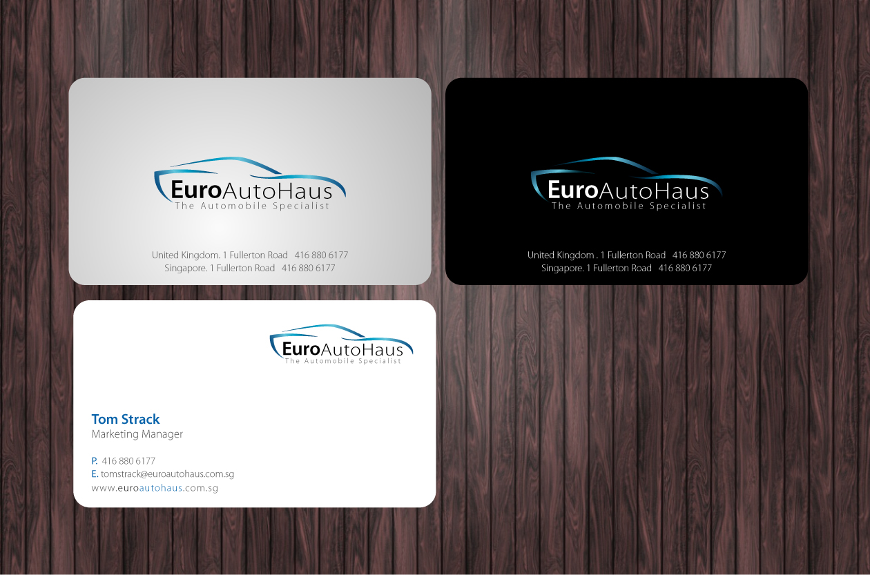 Business Card Design By Nila For Namecard Designs+Logo For A High End  Automobile Company