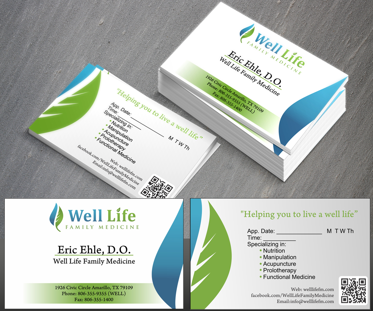 Elegant, Playful, Medical Business Card Design for a Company by rwin ...