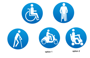 Icon Design by Borun - Mobility Aids/Equipment Vector Icons