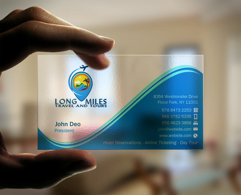 Elegant, Playful Business Card Design for longmiles travel and tours ...