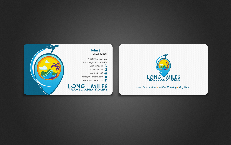Elegant, Playful, Business Business Card Design for longmiles travel ...
