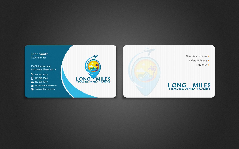 Elegant, Playful Business Card Design for longmiles travel and ...