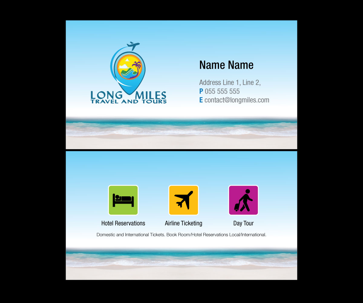 Unique Travel Business Card Design Sketch - Business Card Ideas ...