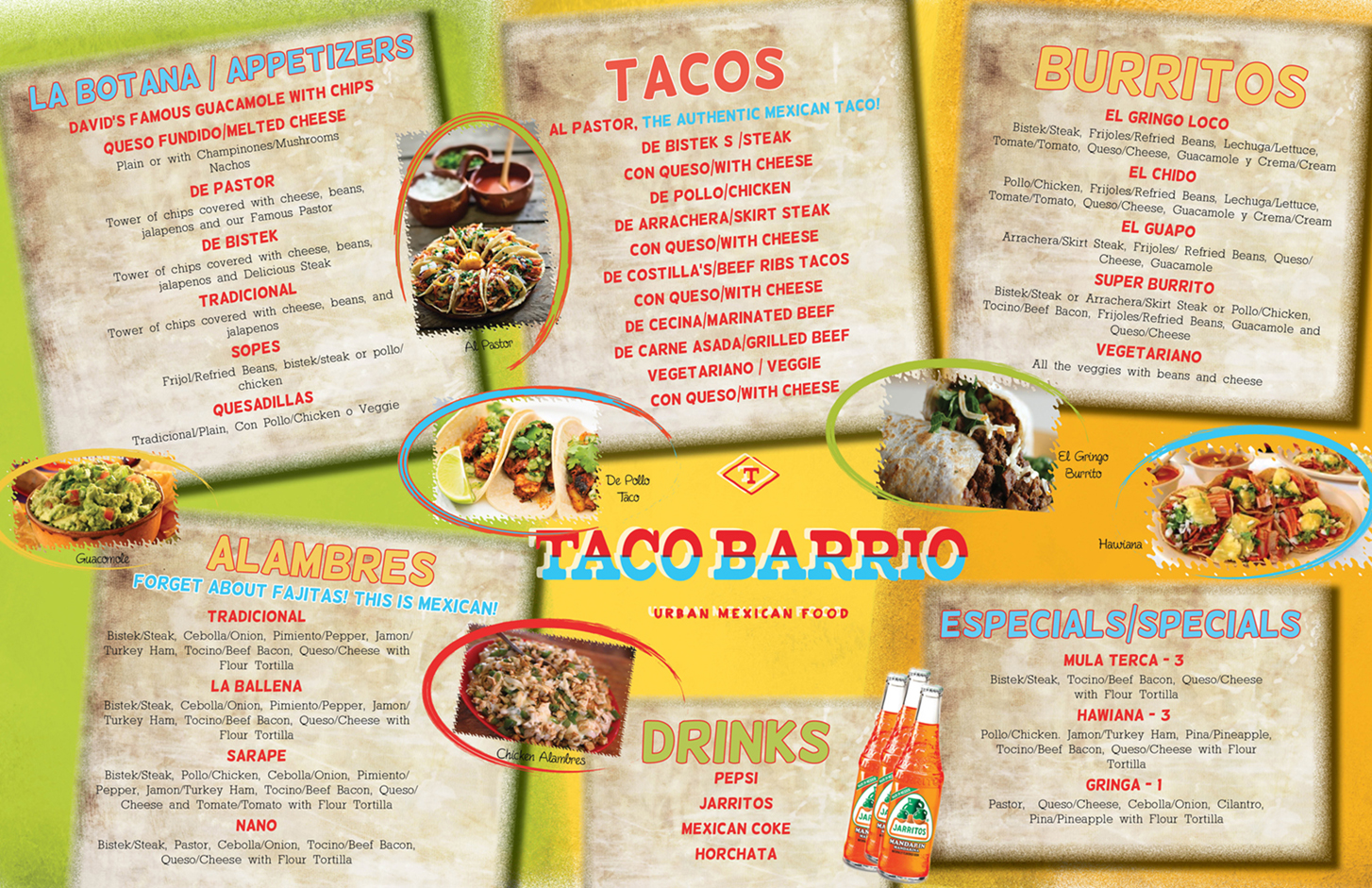 bold playful mexican restaurant menu design for a company by marcy