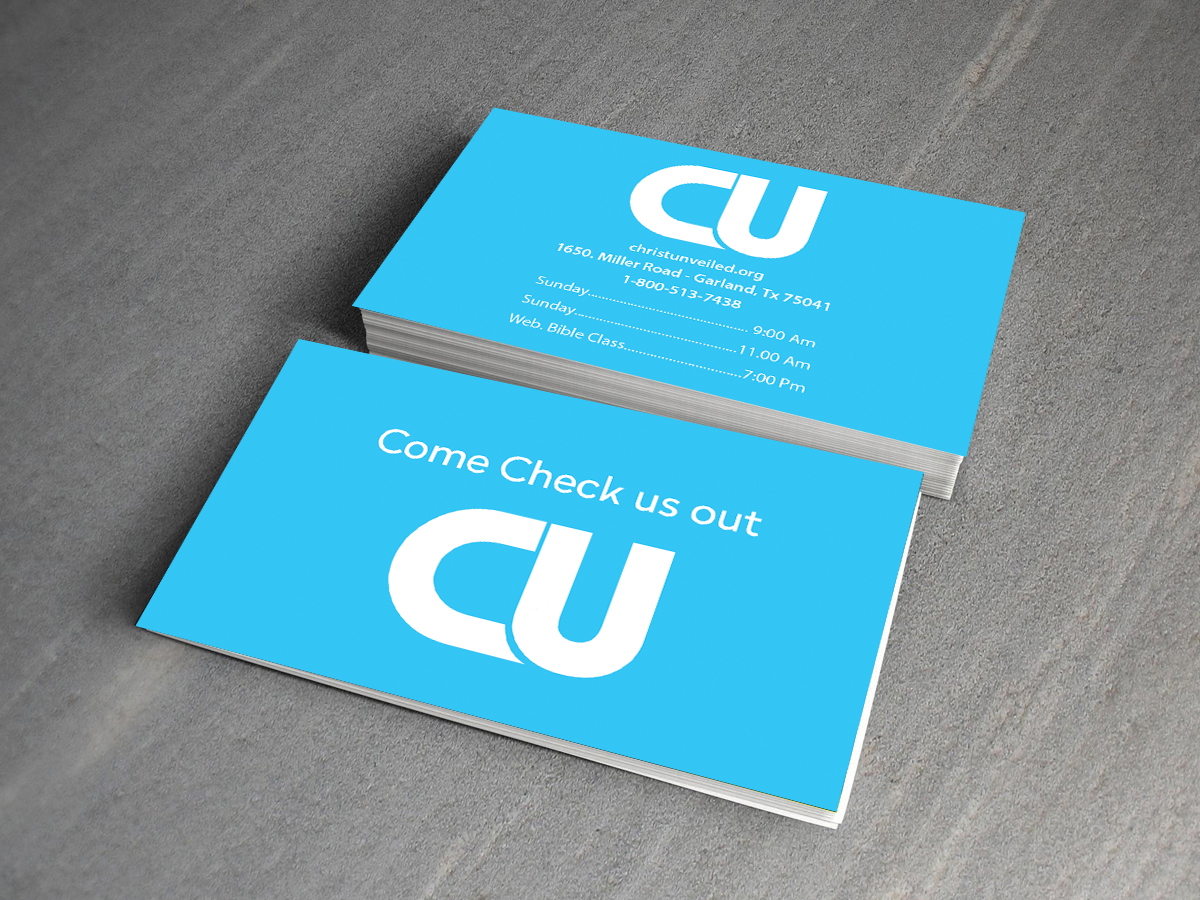 Bold, Modern Business Card Design for Christ-Unveiled Min by ...