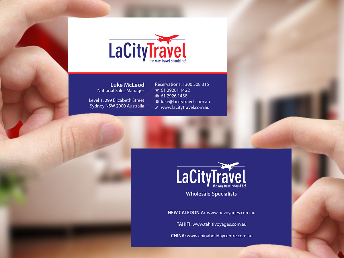 Modern, Professional, Travel Agent Business Card Design for LaCity ...