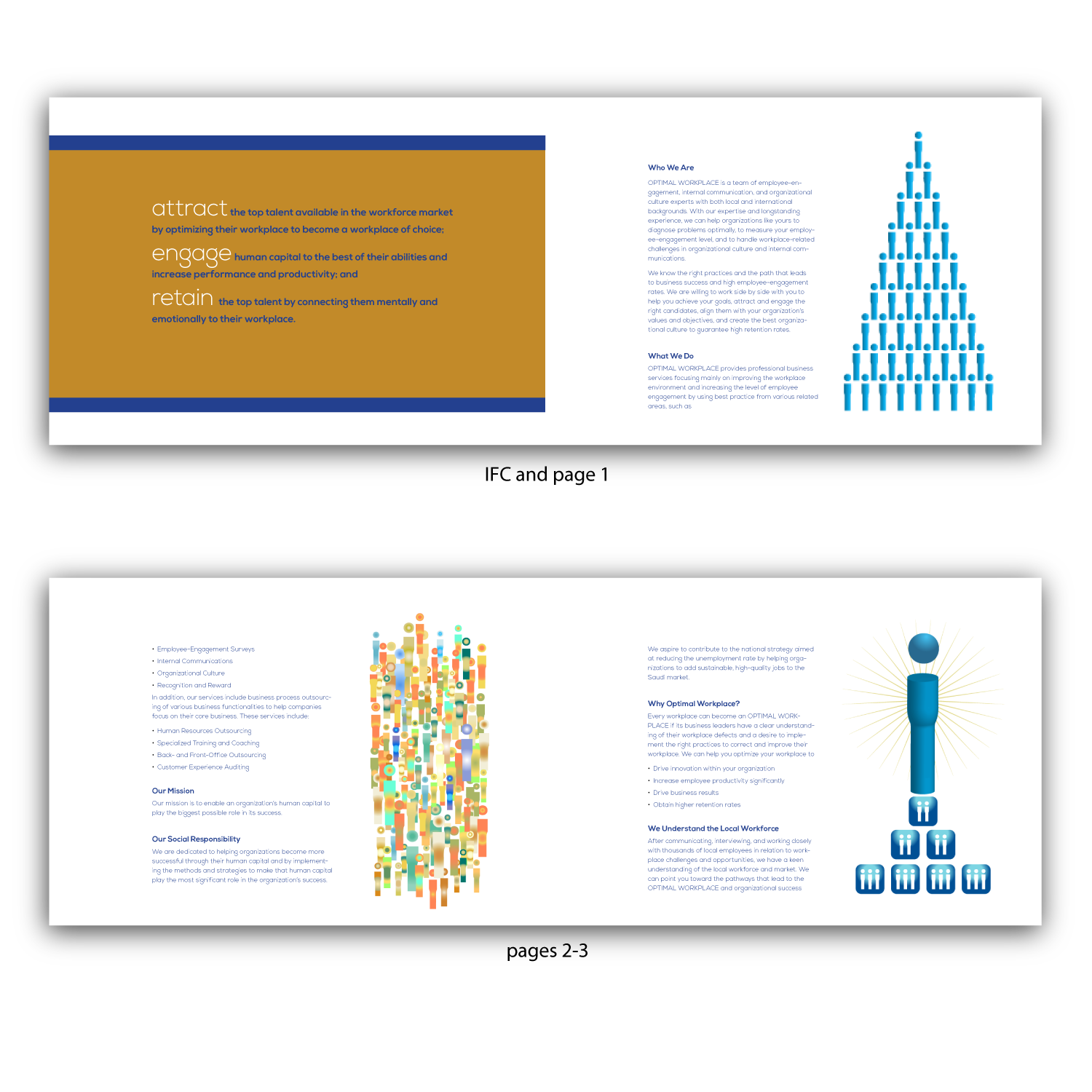 Serious, Masculine, Business Consultant Brochure Design for