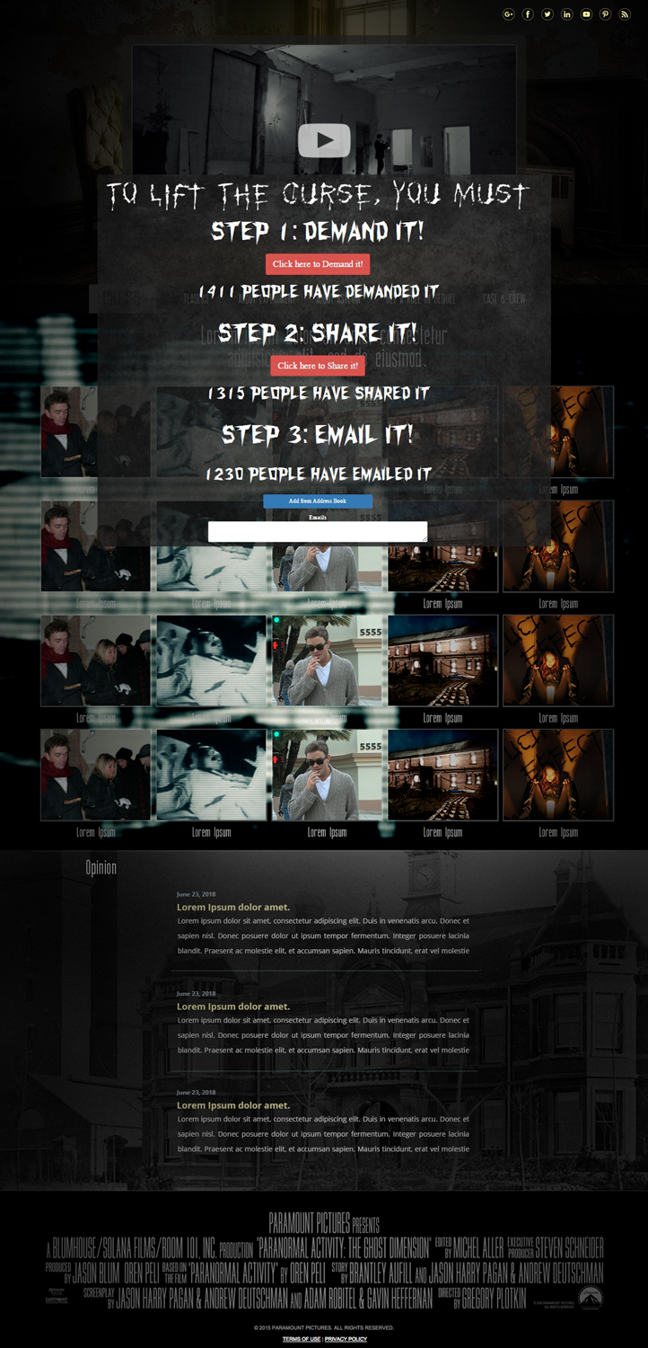 Elegant, Playful, Movie Web Design for Horror Movies  com by lionx