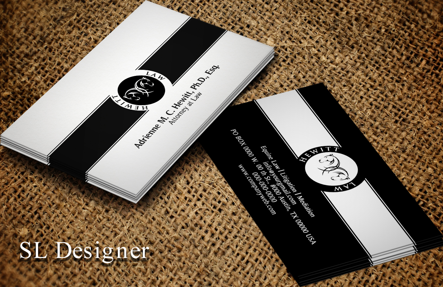 Elegant, Modern, Attorney Business Card Design for a Company by SL ...