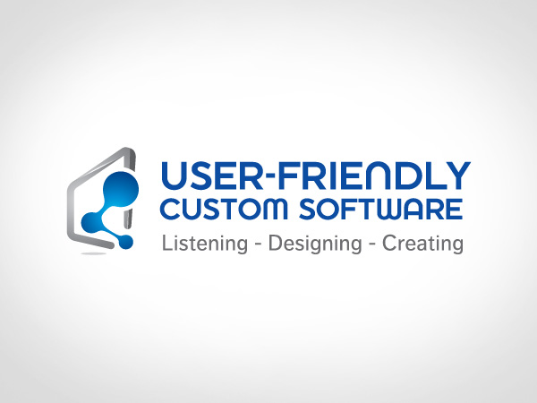 Modern Upmarket Logo Design For User Friendly Custom Software Inc By Goh Design 402049