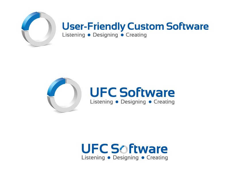 Modern Exklusiv Logo Design For User Friendly Custom Software Inc By Pea Design 400656
