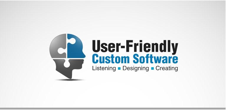 Modern Upmarket Logo Design For User Friendly Custom Software Inc By Kreative Guru Design