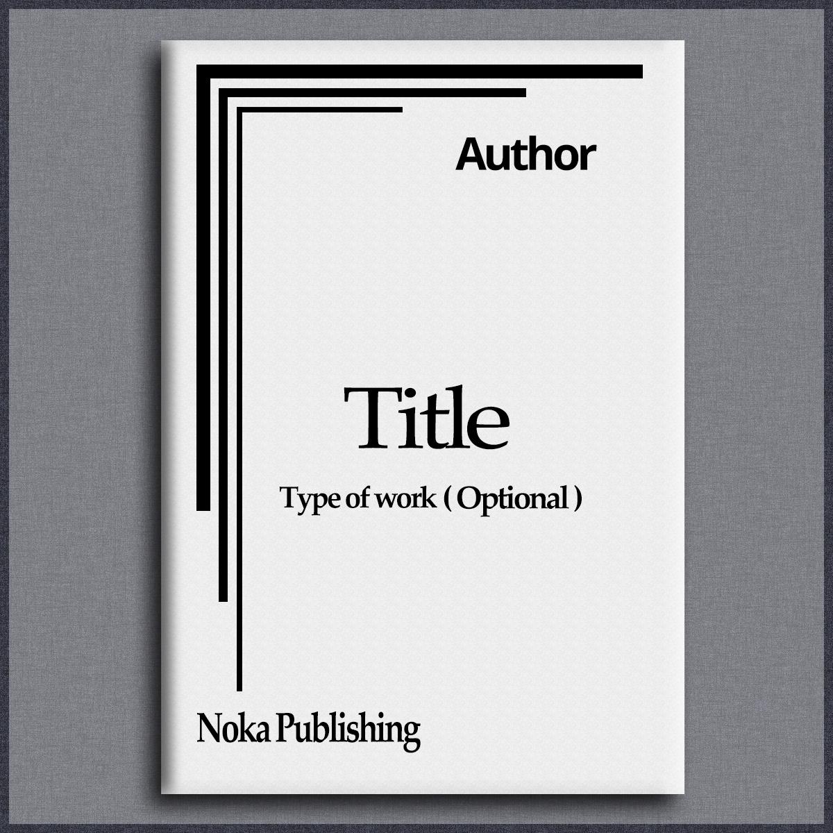 Black Book Cover Design : Conservative serious non profit book cover design for a
