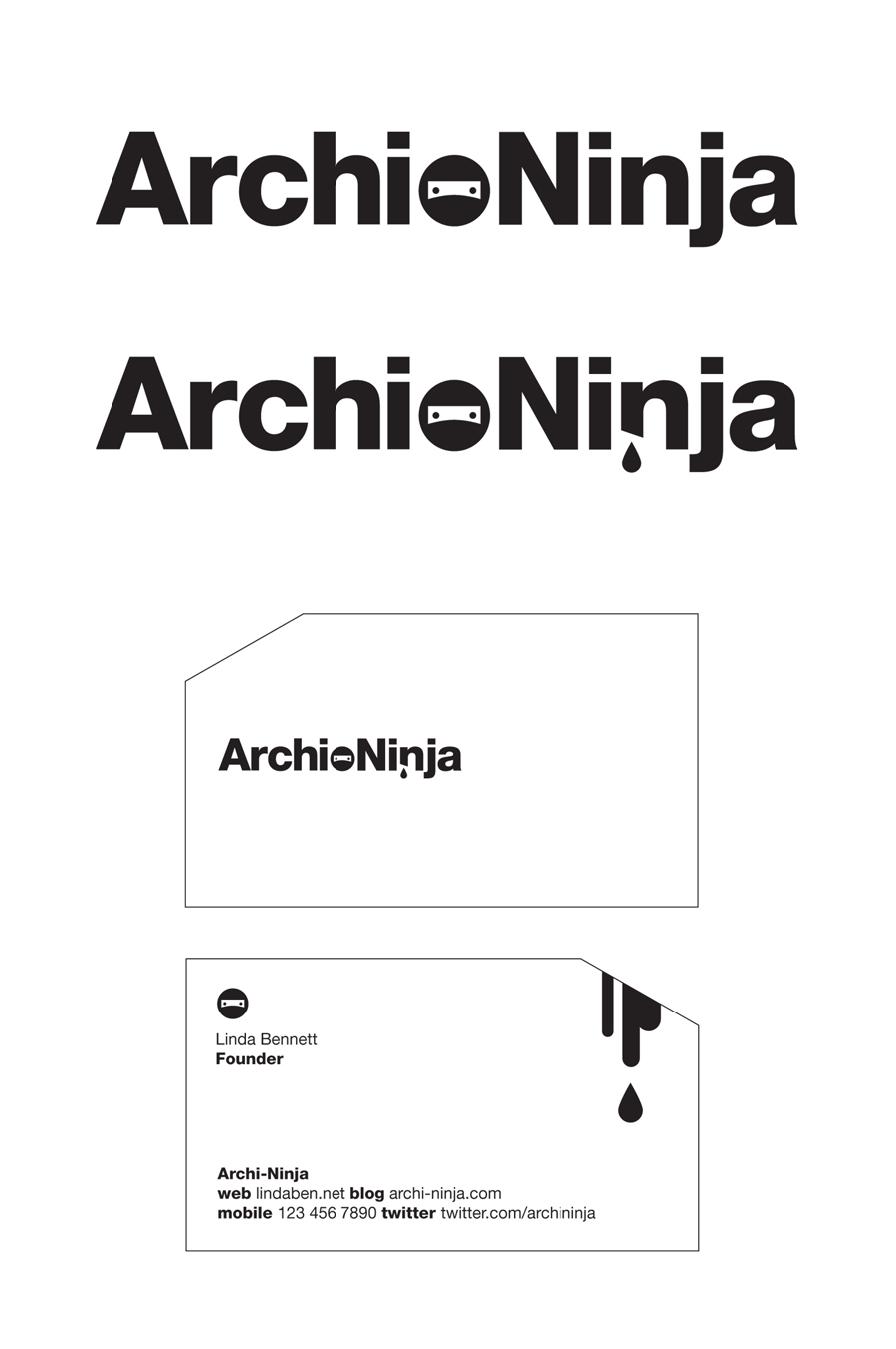 Logo Design by Simple Co. for Logo Design Contest for Archi-Ninja Design/Architecture Blog - Design #13955