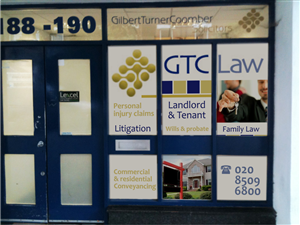 Poster Design by Atvento Graphics - Posters for window front for a Law Firm
