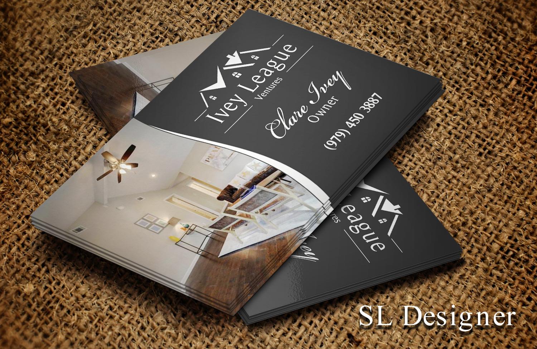 Modern Upmarket Business Card Design Design For Ivey