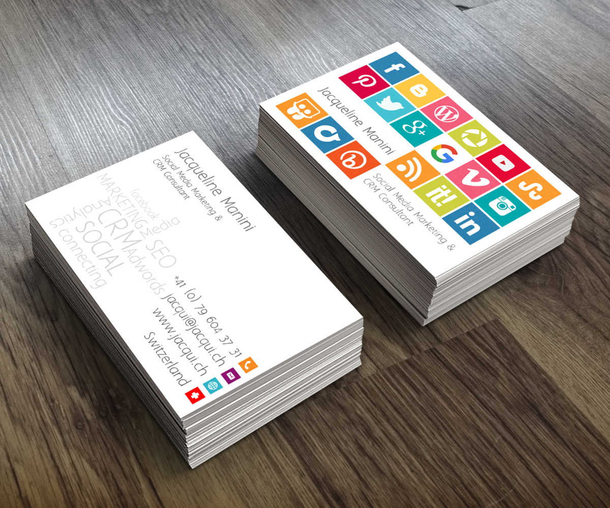 Modern colorful communication business card design for a company business card design by luiz otavio i design for this project design 8215451 reheart Gallery
