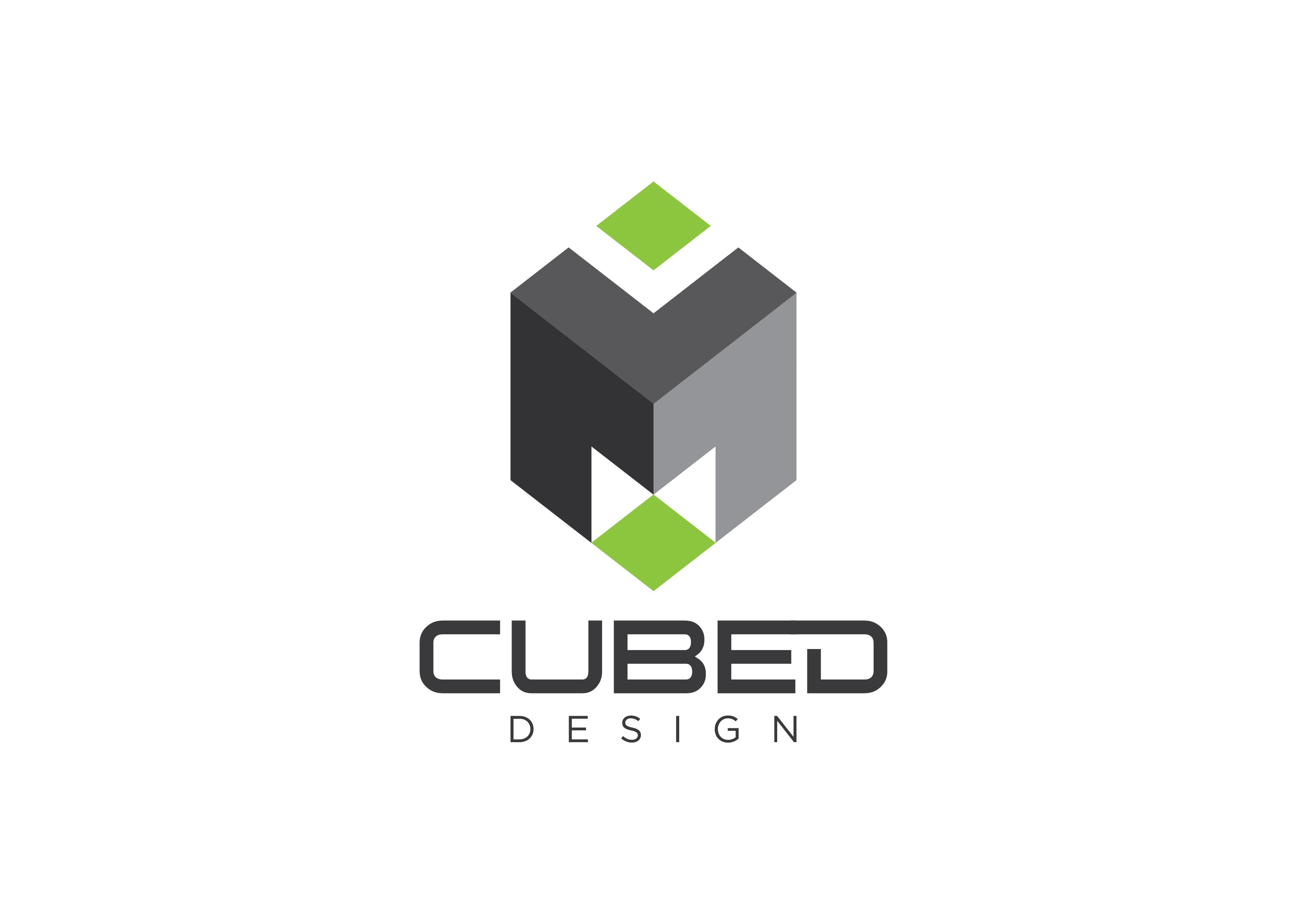 bold upmarket architecture logo design for m cubed