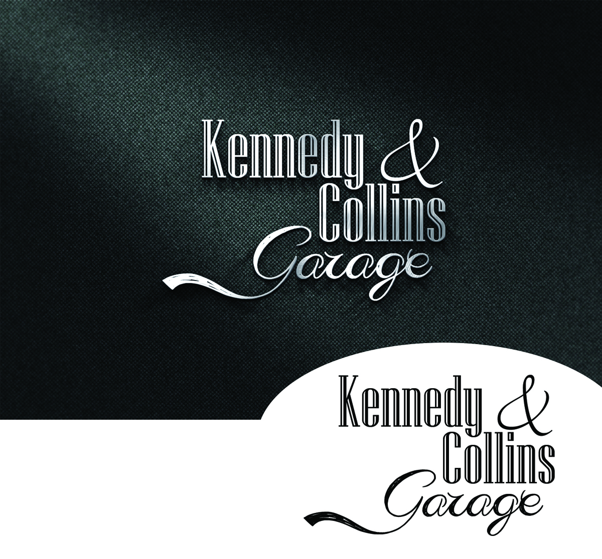 Serious Traditional Garage Logo Design For Kennedy Collins